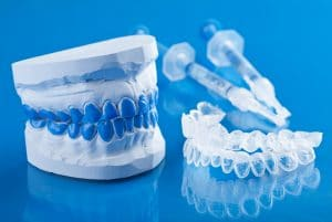 teeth whitening trays and gel